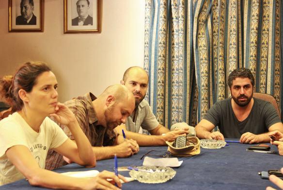 ACCM 1 - durante el Festivalito 2015 - Cristina Noda, Octavio Guerra, David Pantaleón y José Alayón - Foto Haiam Pérez